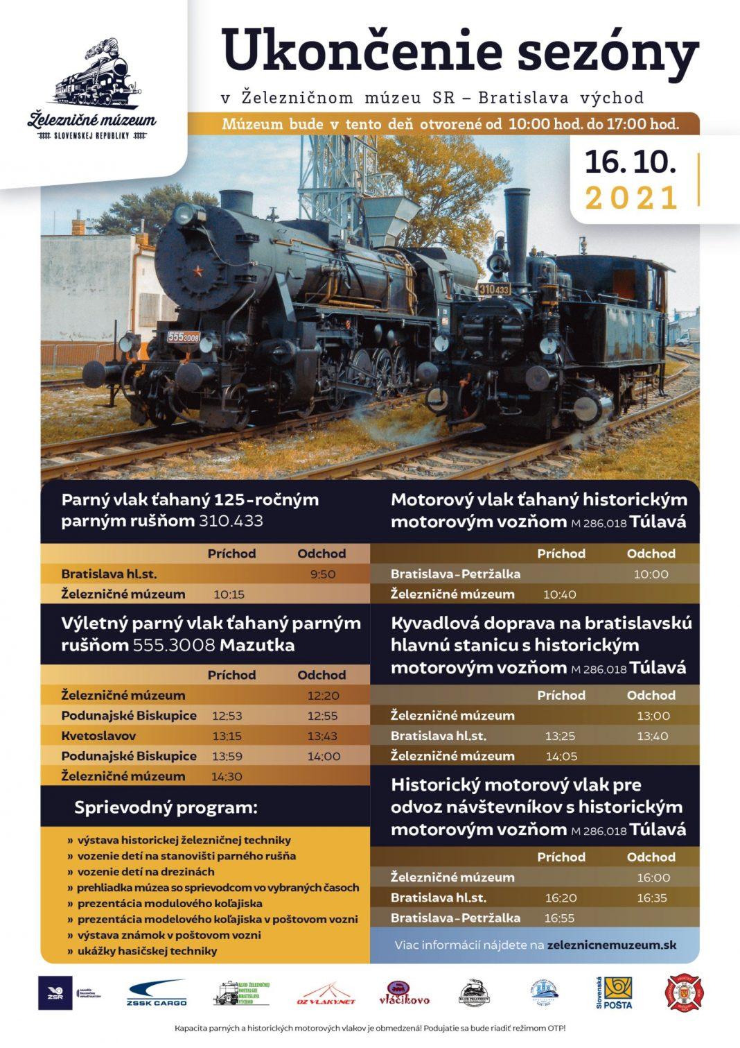 ukončenie sezóny železničné múzeum